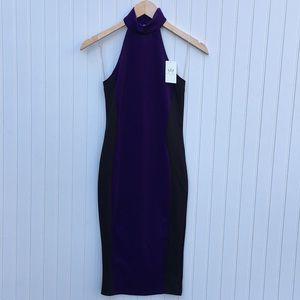 Nicki Minaj purple & black contour dress NWT
